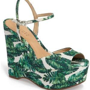 NWOT SCHUTZ Patricia Wedge Sandal size 8
